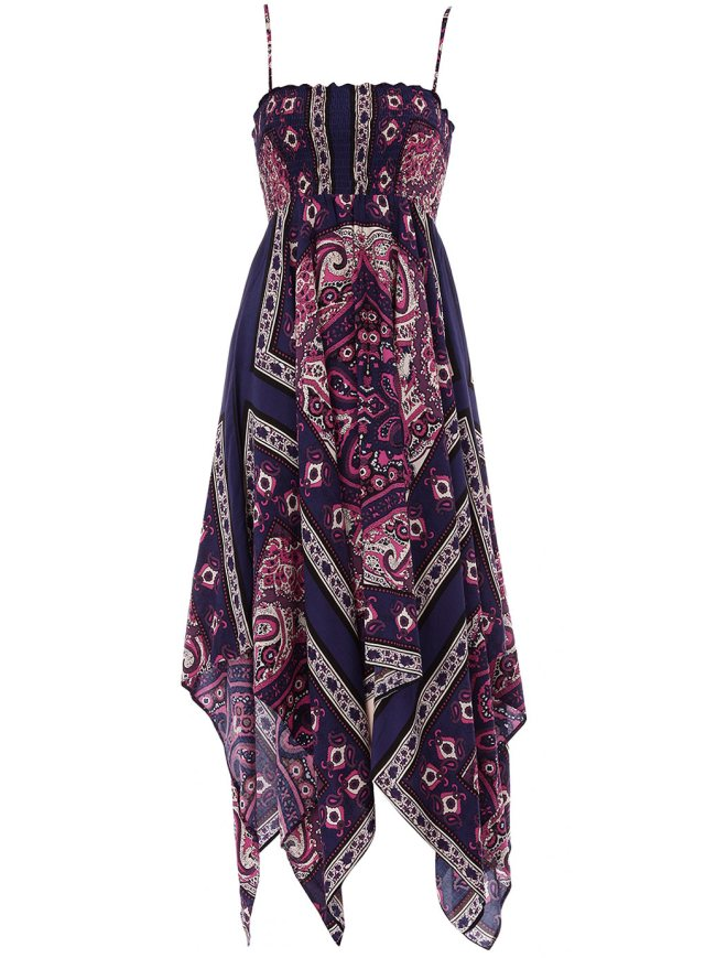 Purple scarf print dress from Dorothy Perkins